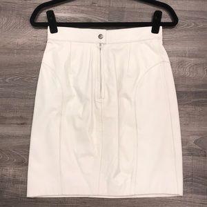 Vintage 100% real leather skirt